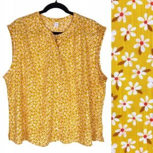 Old Navy Yellow Daisy Floral Sleeveless Top